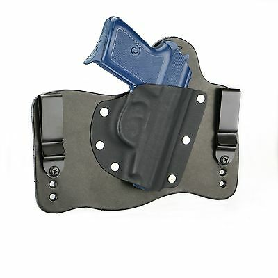 FoxX Leather & Kydex IWB Hybrid Holster Makarov P64 Polish Black Right Tuckable for sale  Sterling Heights