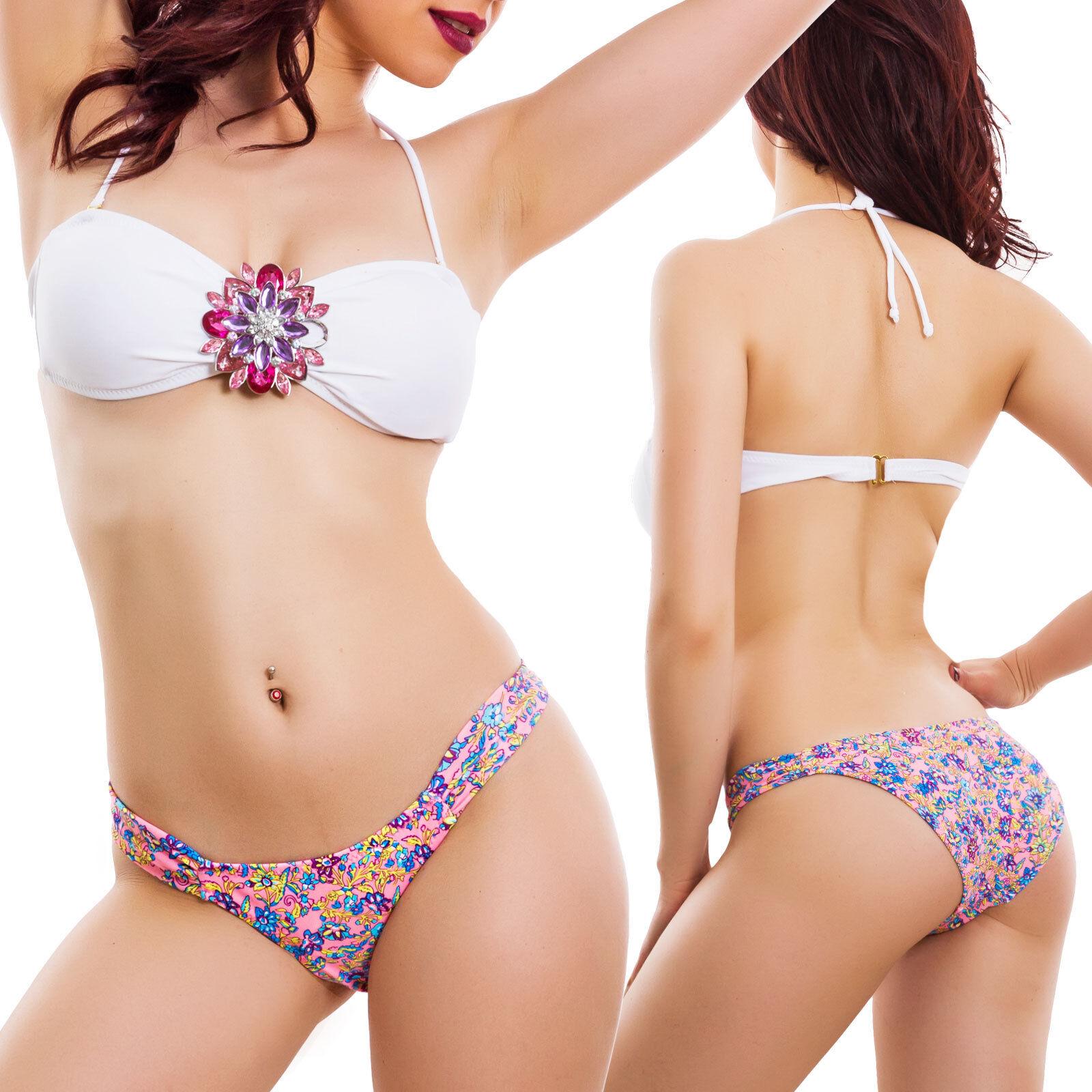 dfcb04a8fb60 Detalles de Bikini Mujer Traje Mar Joya Banda Dos Piezas Moda Mar Sexy  DL-1006