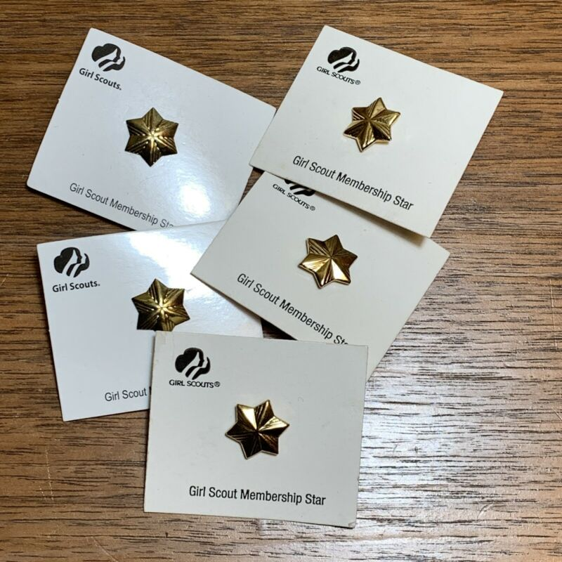 Girl Scouts Lapel Pin Membership Star Set of 5 Unused/New