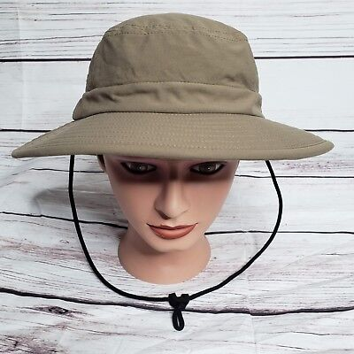 Patagonia Nylon Bucket Hat Rare Water Repellent Camping Hiking Outdoor Sz M -