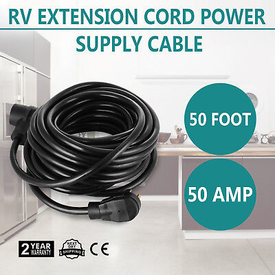 50ft 50amp RV Power Supply Cable for Motorhome Flexible Great Handles Electrical