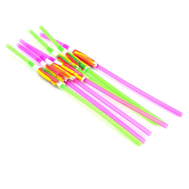 12 Cocktail Umbrella Straw Tropical Hawaiian Party Accessories Assorted Colour