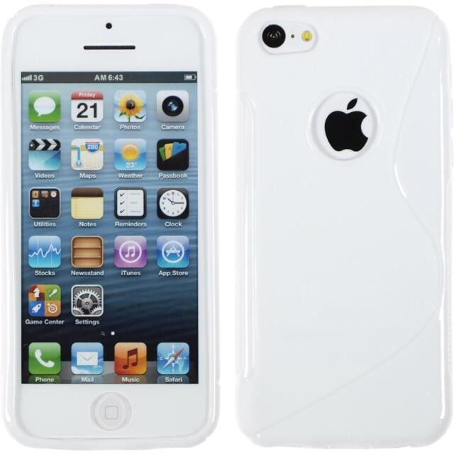 Silicone Case Apple iPhone 5c - S-Style logo white + protective foils