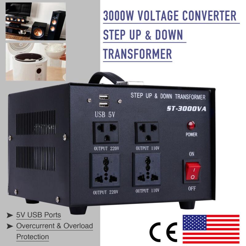 3000W 110V to 220V Step Up Transformer 220V to 110V Step Down Transformer w USB