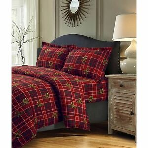 Cabin and lodge bedding set flannel duvet cover queen king for Winter cabin bedding