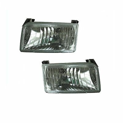 NEWMAR MOUNTAIN AIRE 1998 1999 CLEAR CRYSTAL PAIR HEADLIGHTS LIGHTS LAMPS RV