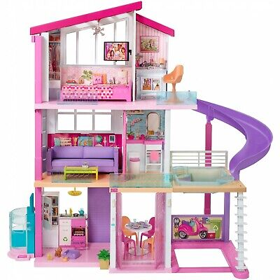 Mattel Barbie Dream House Doll 3 Story Furniture Girls Toy Play 70+ Accessories