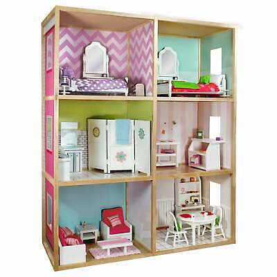 My Girl's Dollhouse For 18' Dolls, Modern Home Style