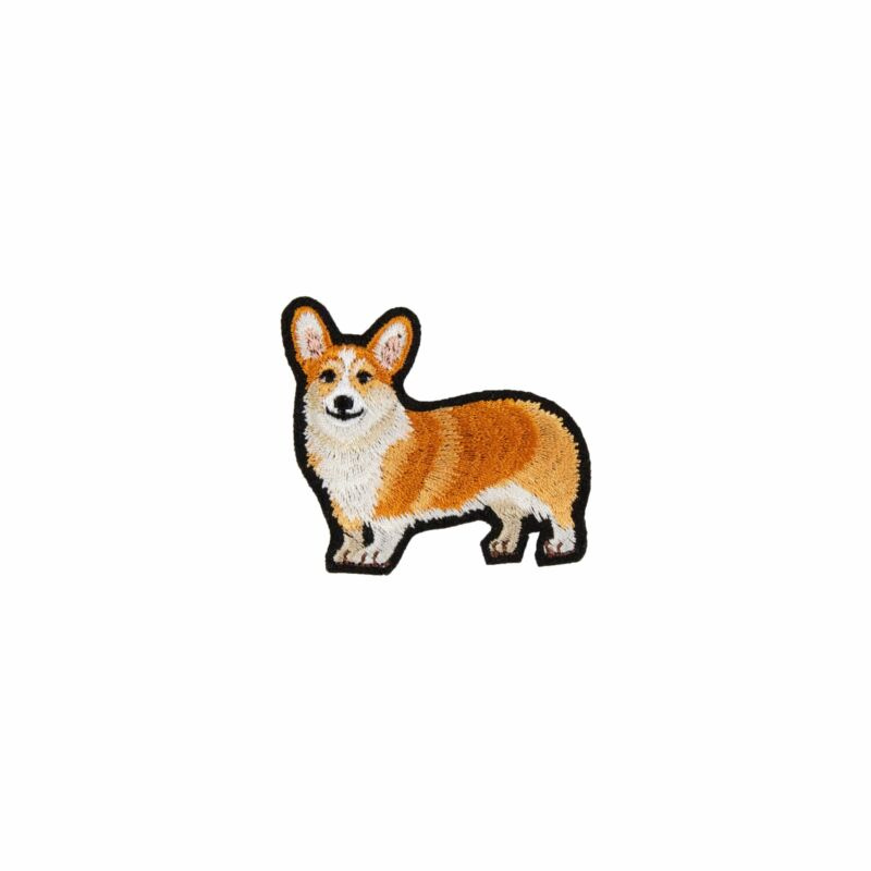 Corgi Embroidery Pin/Press On Sticker