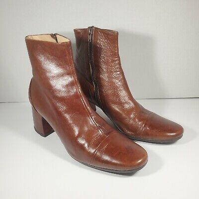Vintage Leather Ann Demeulemeester Women Brown Boots Size EU 38 US 7.5