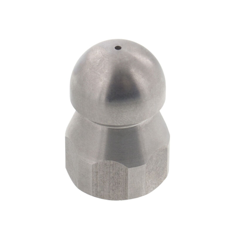 """Erie Tools Button Nose 3/8"""" Sewer Jetter Drain Cleaning Nozzle 18.0 Orifice Size"""
