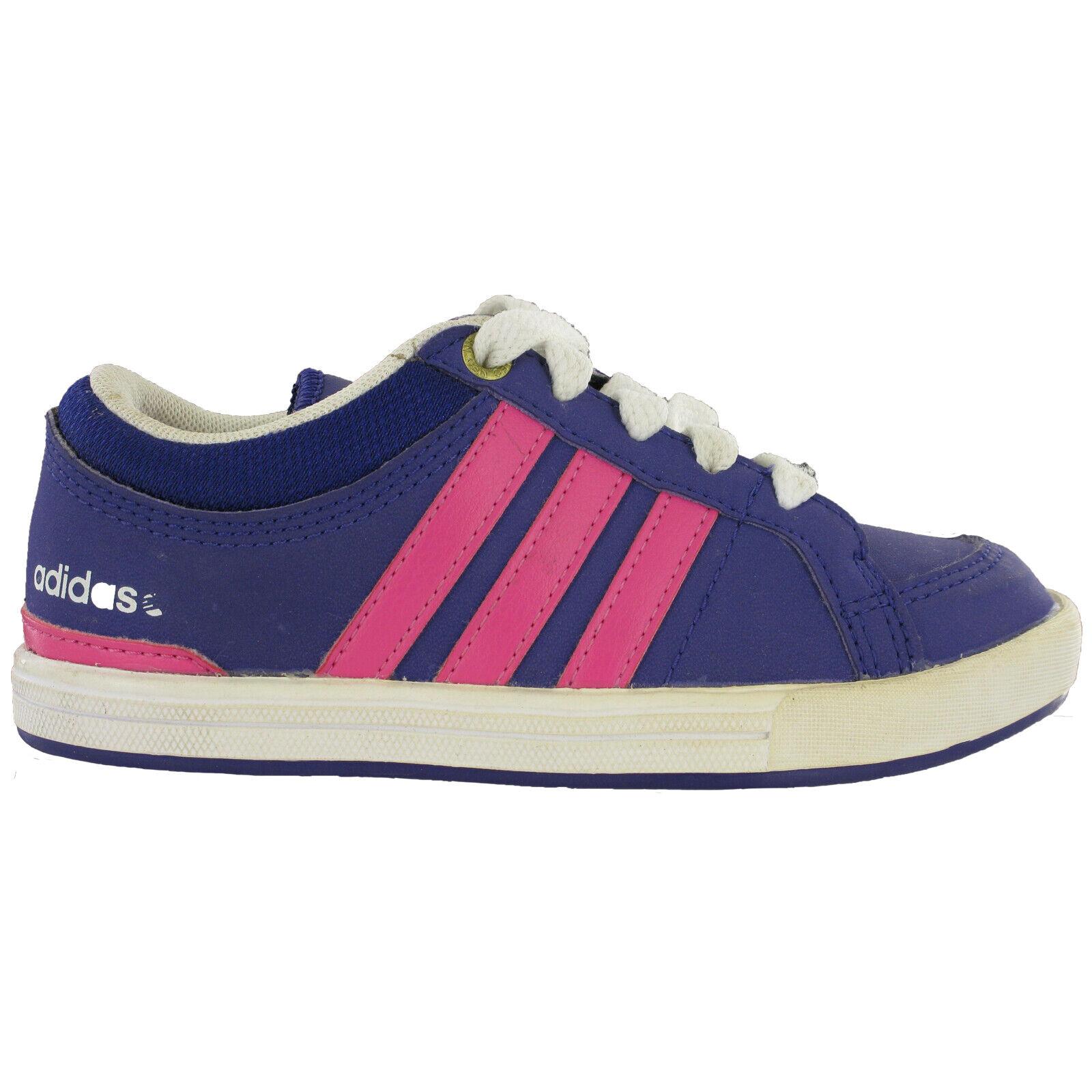 Détails sur Adidas BB Neo Skool Lo Violet Smart Décontracté Lacet Filles Enfants Baskets