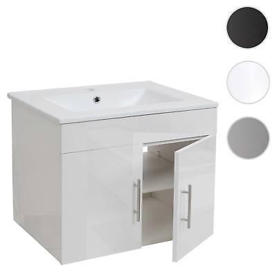 Waschbecken + Unterschrank HWC-D16, Waschtisch, hochglanz 60cm
