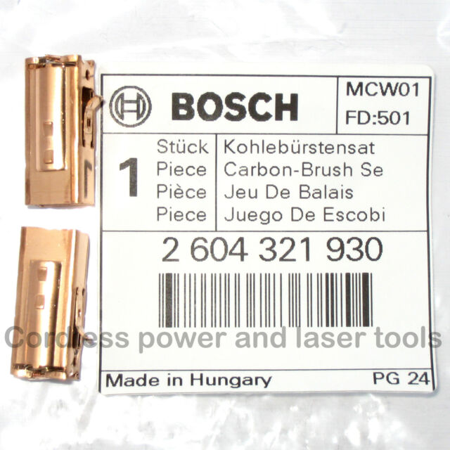 Bosch Carbon Brushes + Holders for PSB 1000 RPE Drill Genuine Part 2 604 321 930