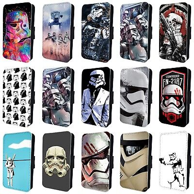 STORMTROOPER STAR WARS DARTH VADER FLIP PHONE CASE COVER for iPHONE 4 5 6 7 8 X