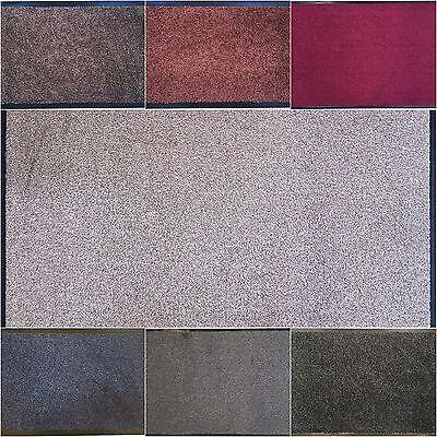Waschbar Farbe (Schmutzfangmatte Fußmatte Fußabtreter Cotton waschbar versch. Farben und Größen)