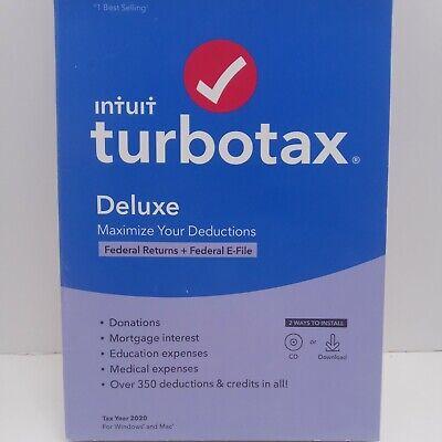 INTUIT TURBOTAX DELUXE 2020