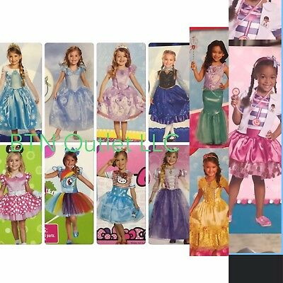 Disguise Deluxe Toddler/Child Costume Elsa Anna Cinderella Minnie Ariel Doc - Elsa Costume Deluxe