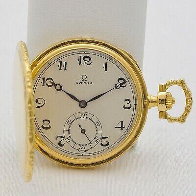 Omega Pocket 18 Carats Gold Vintage 1 25/32in Manual Calibre 35.5S Serviced