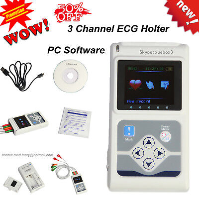 Contec Ecg Holter Tlc9803  24h Ekg Monitor Pc Software Analyzer New Promotion