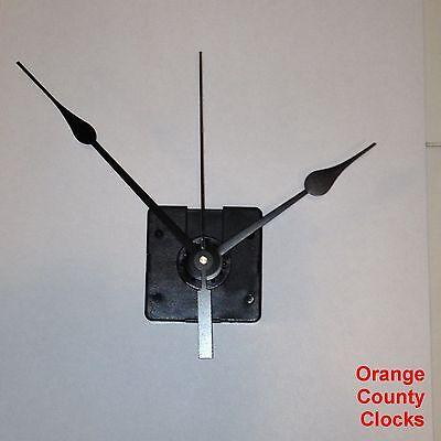 """Quartex Quartz Clock Movement Motor Mechanism Kit, large hands, up to 1/4"""" dials"""
