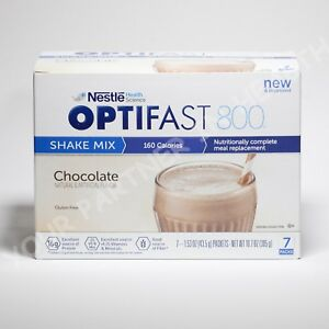 OPTIFAST 800 POWDER SHAKE   1 CASE   CHOCOLATE   84 SERVINGS   NEW & FRESH