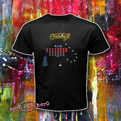 GALAGA Atari Classic game logo space invaders Men's New T shirt S to 3XL