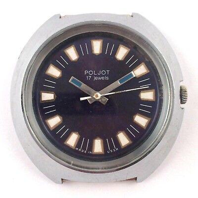 Soviet POLJOT WindUp Watch Export Edition Serviced VGC 1970s *US SELLER* #1230