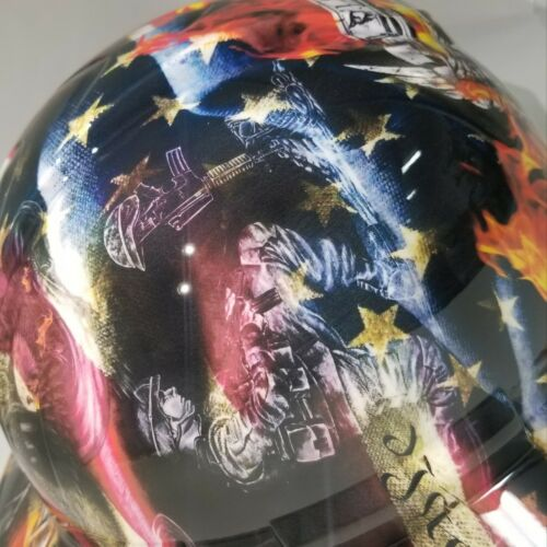 NEW FULL BRIM Hard Hat custom hydro dipped in , FIREFIGHTER FIRST IN , LAST OUT 5
