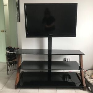 3-tier TV stand with mount