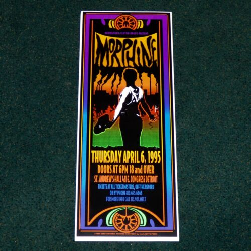 MORPHINE ST. ANDREWS HALL DETROIT 1995 ORIGINAL CONCERT POSTER PRINT KEVIN SYKES