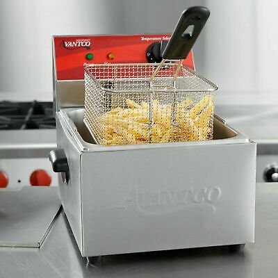 Avantco 10 Lb Electric 120v Restaurant Compact Countertop Commercial Deep Fryer