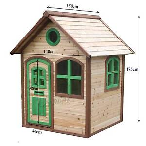Brand New Outdoor Play House Wooden Cubby House with Windows ED08 Thomastown Whittlesea Area Preview