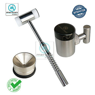 Bone Crusher Mill Grinder Mallet Hammer Implantology Instruments Kit Amalgam