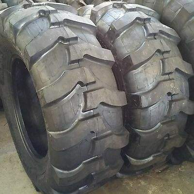 2-tires 17.5l-24 12pr R4 Rear Backhoe Industrial Tractor Tire 17.5lx24 175l24