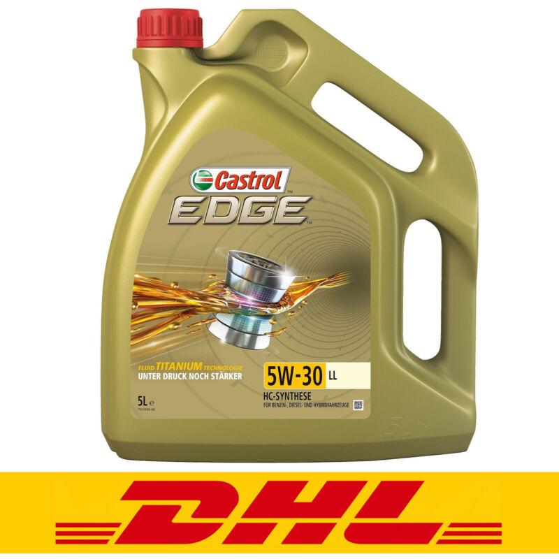 Castrol Edge Titanium FST LL 5W-30 5 Liter Motoröl Motorenöl 15669E VW 504 507