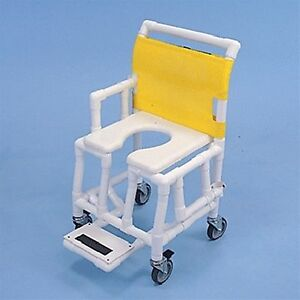 Healthline st603oft5sf shower and commode chair soft seat footrest drop arm - Commode profondeur 35 ...
