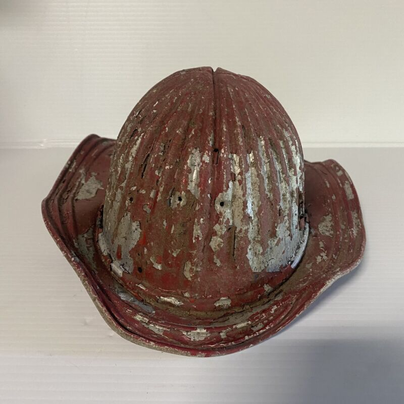 Vintage Patina  FIRE FIGHTERS Helmet Metal No Badge