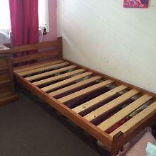 Wooden single bed frame plus mattress Cambridge Park Penrith Area Preview