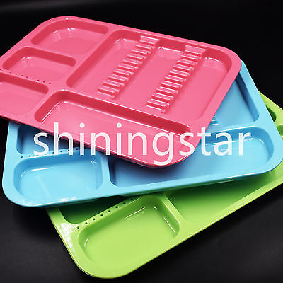 Dental Plastic Tray Divided Separate Type 3 Colors Instrument To Choose Hot Sale