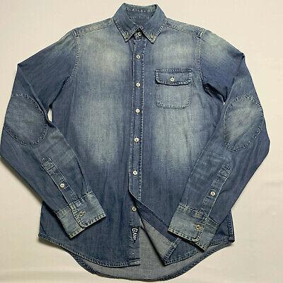 Michael Bastian x Gant FW12 Long Sleeve Denim Shirt, Elbow Patch, Size: Small
