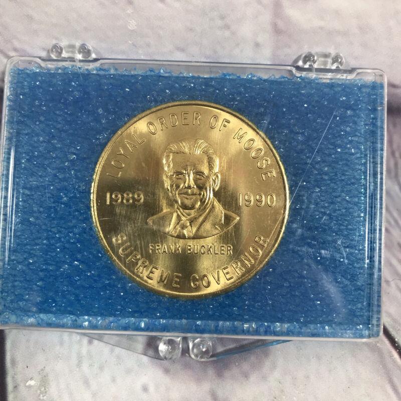 """Vintage Loyal Order of the Moose Coin Token 1989-90 MD DE DC Association 1.5"""""""