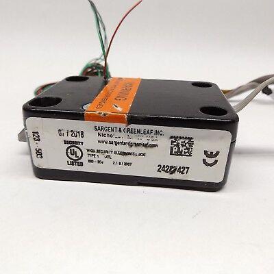 Sargent Greenleaf 6123-503 High Security Electronic Safe Lock Damaged