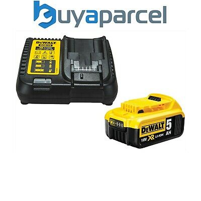 Dewalt Dcb184 5.0ah 18v Xr Lithium Ion Battery Dcb115 Charger