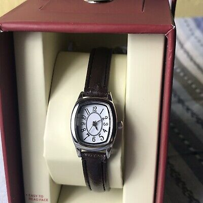 4199a35eb Merona Womens Watch With Rectangular Dial and Black Band NEW