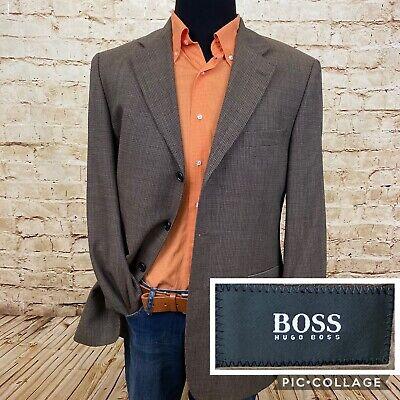 Hugo Boss Gray Sport Coat Blazer Jacket Mens Size 40 R Da Vinci