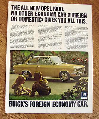 1971  Buick Opel Kadett 1900 2 dr Sedan Ad Aztec Gold
