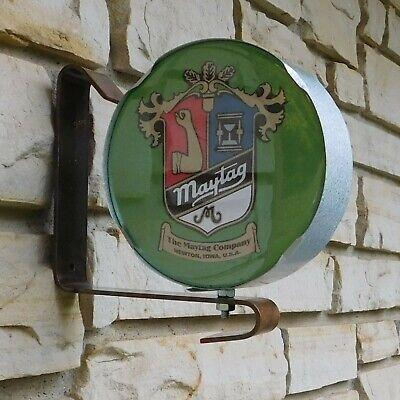 Maytag Vintage Engine Motor Logo Emblem Service Sale Wall Post Sign Usa Made