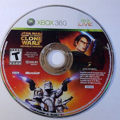 Star Wars: The Clone Wars Republic Heroes (Microsoft Xbox 360) (DISC ONLY)