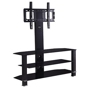 Design Tempered Glass TV Stand with Bracket for 32 to 55 inches Plasma LCD TV